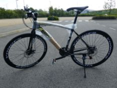 Blakc and yellow Extreme town bike