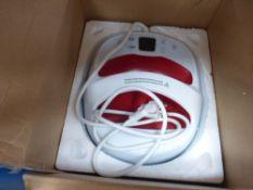 Box with heat press transfer machine
