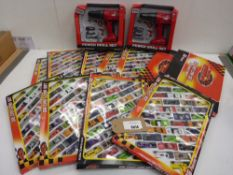 11 packs of dies cast car sets and 2 Toy power drill sets