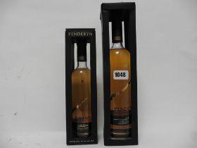 2 bottles of Penderyn Aur Cymru AC Madeira Finished Single Malt Welsh Whisky with boxes,