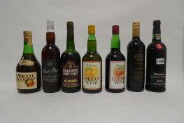 7 assorted bottles, 1x Taylor's 1985 Late bottled Vintage Port, 1x Osborne Ruby port,
