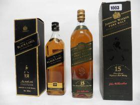 2 bottles of Johnnie Walker Malt Scotch Whisky,