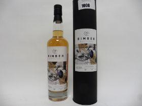 A bottle of Bimber Distillery Enigma #2 Limited Edition Single Cask Single Malt London Whisky with
