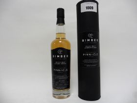 A bottle of Bimber Distillery Single Malt London Whisky Limited Edition bottling for Pinnacle with