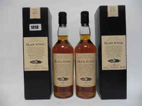 2 bottles of Blair Athol 12 year old Highland Single Malt Scotch Whisky with boxes,