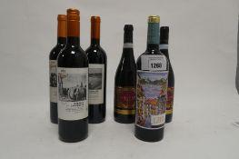 6 bottles red wine, 1x LB7 Red 2018 Vinho Regional Lisboa,