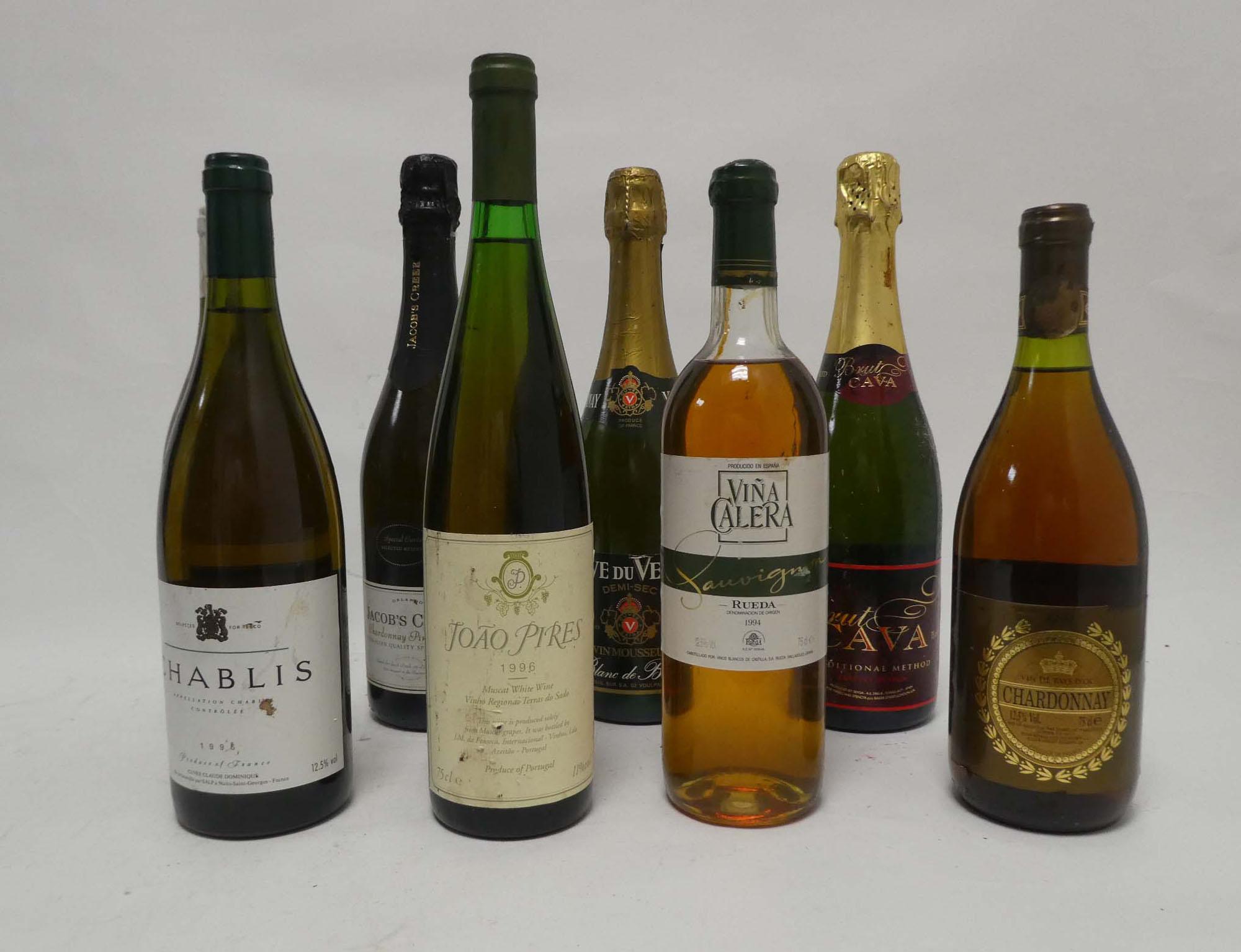 8 bottles, 1x Cuvee Claude Dominique 1996 Chablis, 1x JFP 1998 Sancerre,