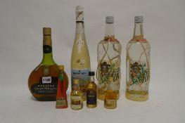 4 bottles & 4 miniatures, 1x Janneau VS Tradition Grand Armagnac 68cl 40%,