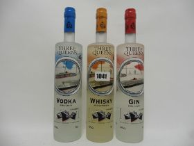 A set of 3 bottles of Limited Series Cunard Three Queens Scotch Whisky,