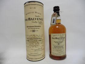 A bottle of The Balvenie 10 year old Founder's Reserve Malt Scotch Whisky with carton 1 litre 43%