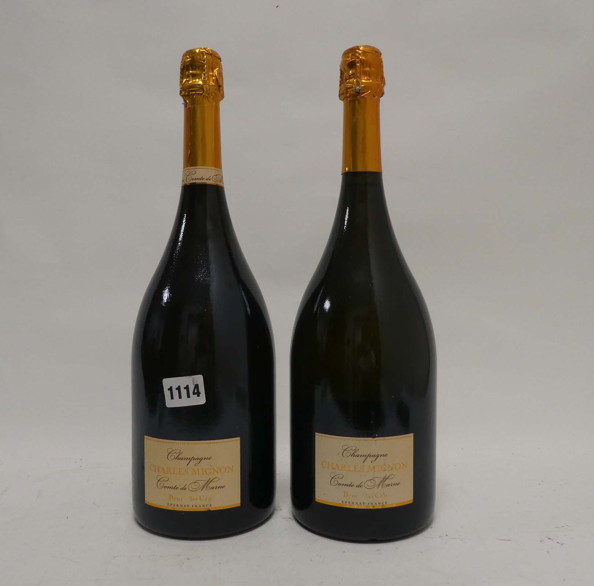 2 Magnums of Charles Mignon Comte De Marne Premier Cru Brut Champagne 150cl 12% each