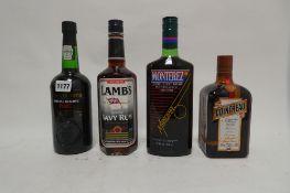 4 bottles, 1x Lamb's Navy Rum 70cl 40%, 1x Cointreau liqueur 70cl 40%,