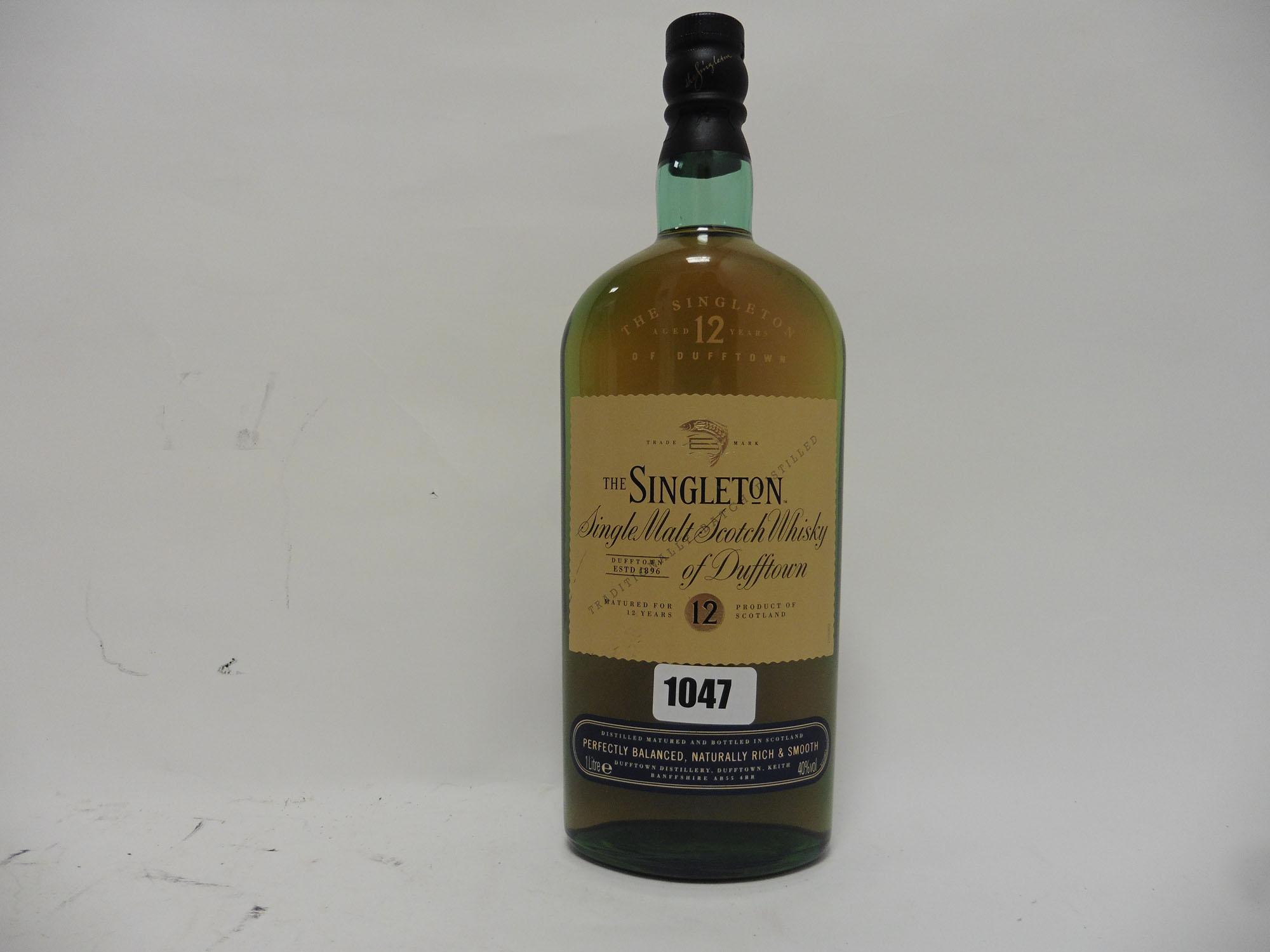A bottle of The Singleton 12 year old Single Malt Scotch Whisky,