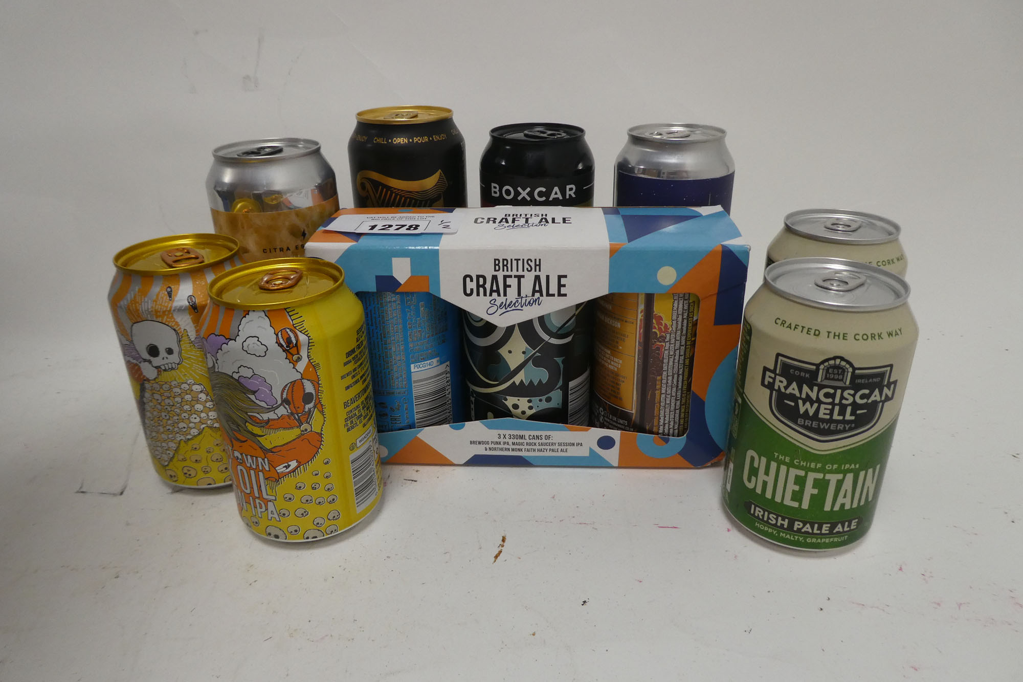 approx 44 cans of assorted ales including Camden Pale Ale, Siren Craft Brewery, Northern Monk,