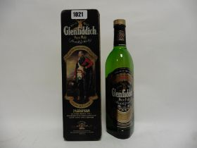 A bottle of Glenfiddich Special Old Reserve Pure Single Malt Scotch Whisky with Clans of the
