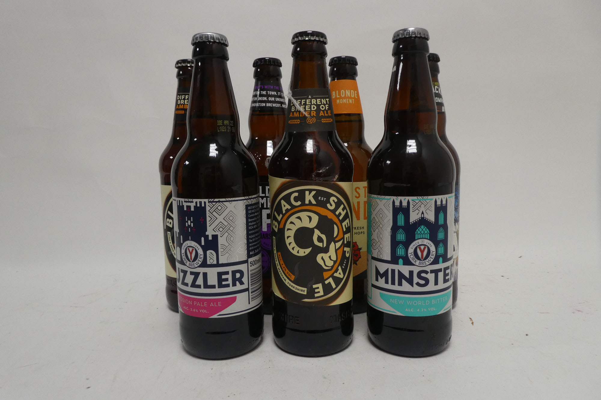 36 bottles of Ales including Black Sheep, Sadler's Peaky Blinder Black IPA,