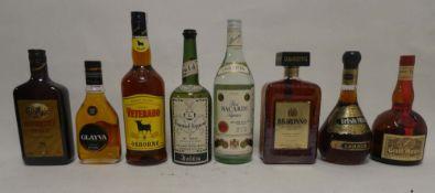 8 bottles, 1x Ron Bacardi Carta Blanca Rum 1 litre 35.