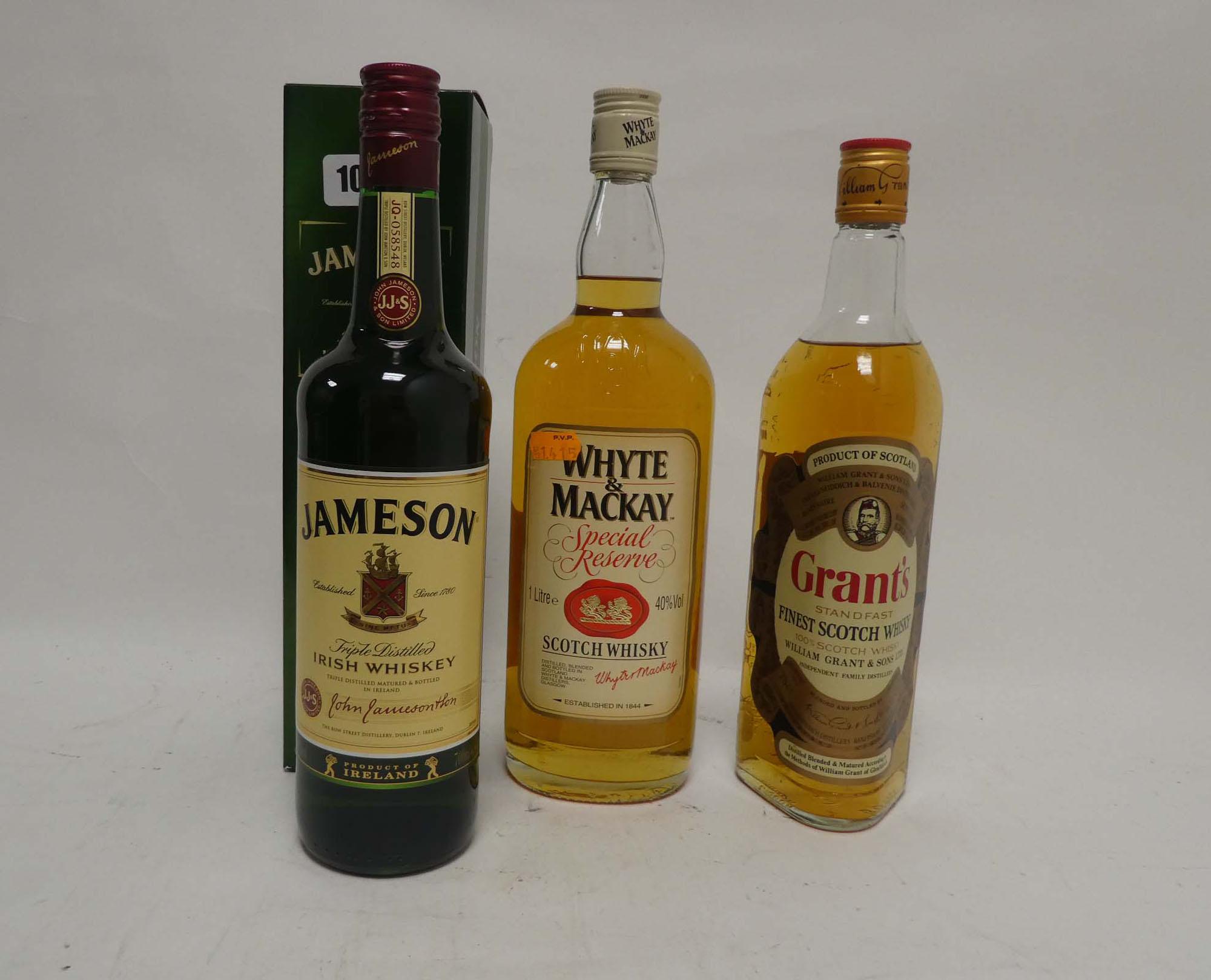 3 bottles, 1x Jameson Irish Whiskey with box 70cl 40%,