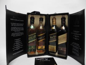 A Johnnie Walker The Collection Finest Scotch Whisky set of 4x 20cl bottles with box,