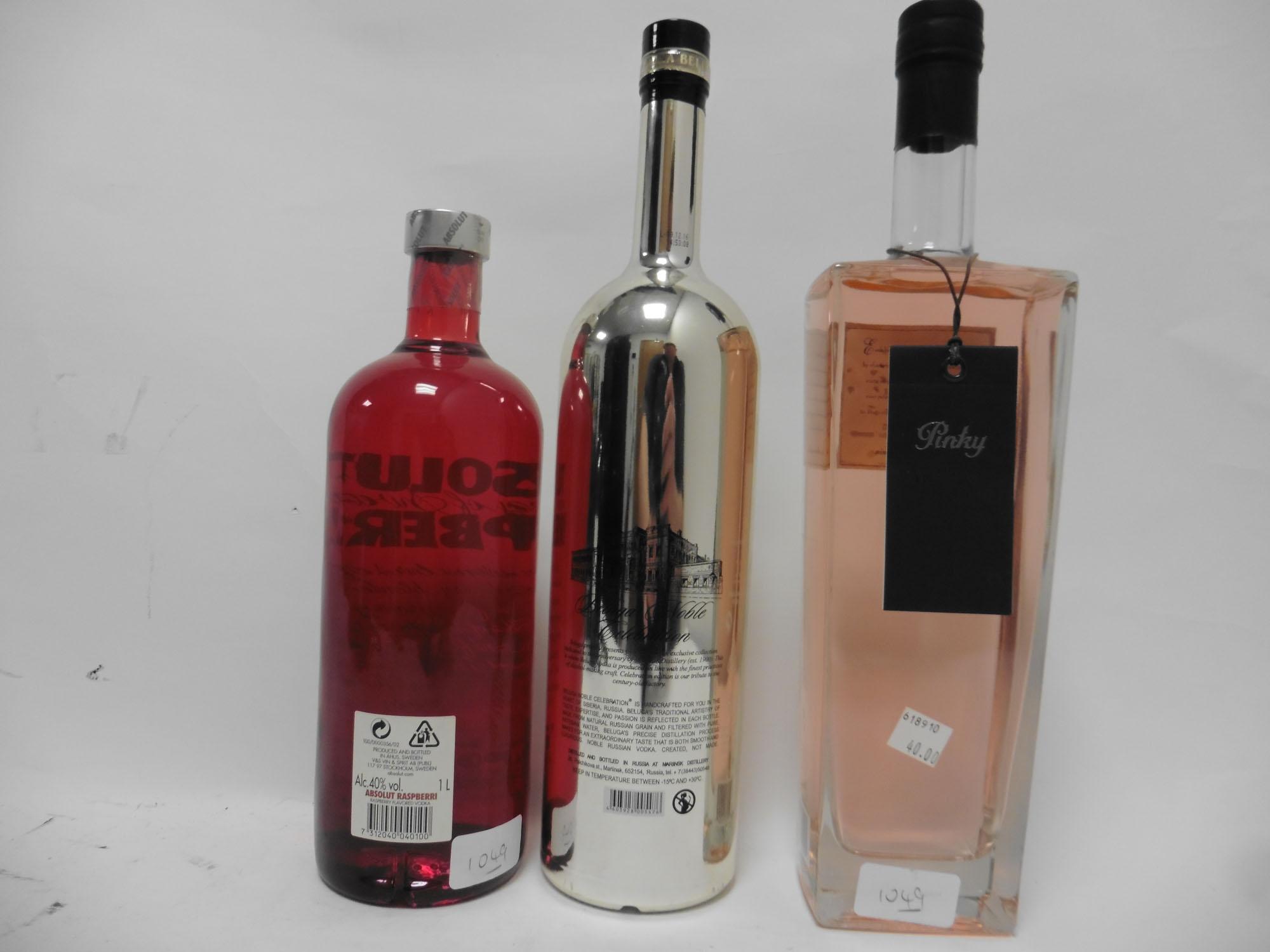 3 bottles of Vodka, 1x Beluga Noble Celebration Russian Vodka 1 litre 40%, - Image 2 of 2