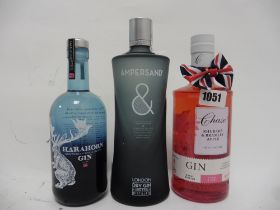 3 bottles, 1x Chase Rhubarb & Bramley Apple Herefordshire Gin 70cl 40%,