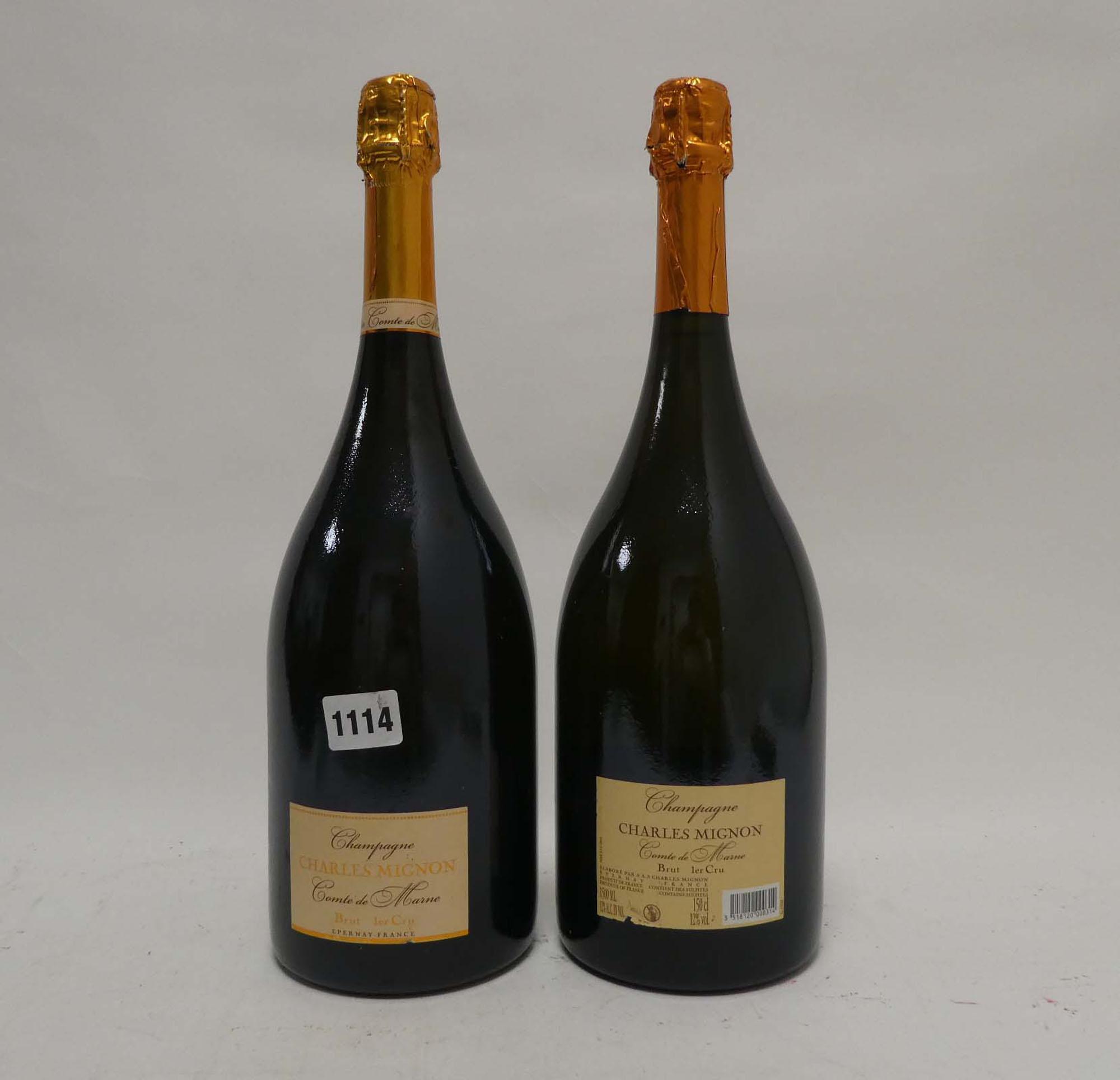 2 Magnums of Charles Mignon Comte De Marne Premier Cru Brut Champagne 150cl 12% each - Image 2 of 2