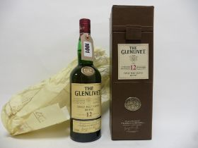 An old style bottle of The Glenlivet 12 year old Single Malt Scotch Whisky with box 70cl 40%
