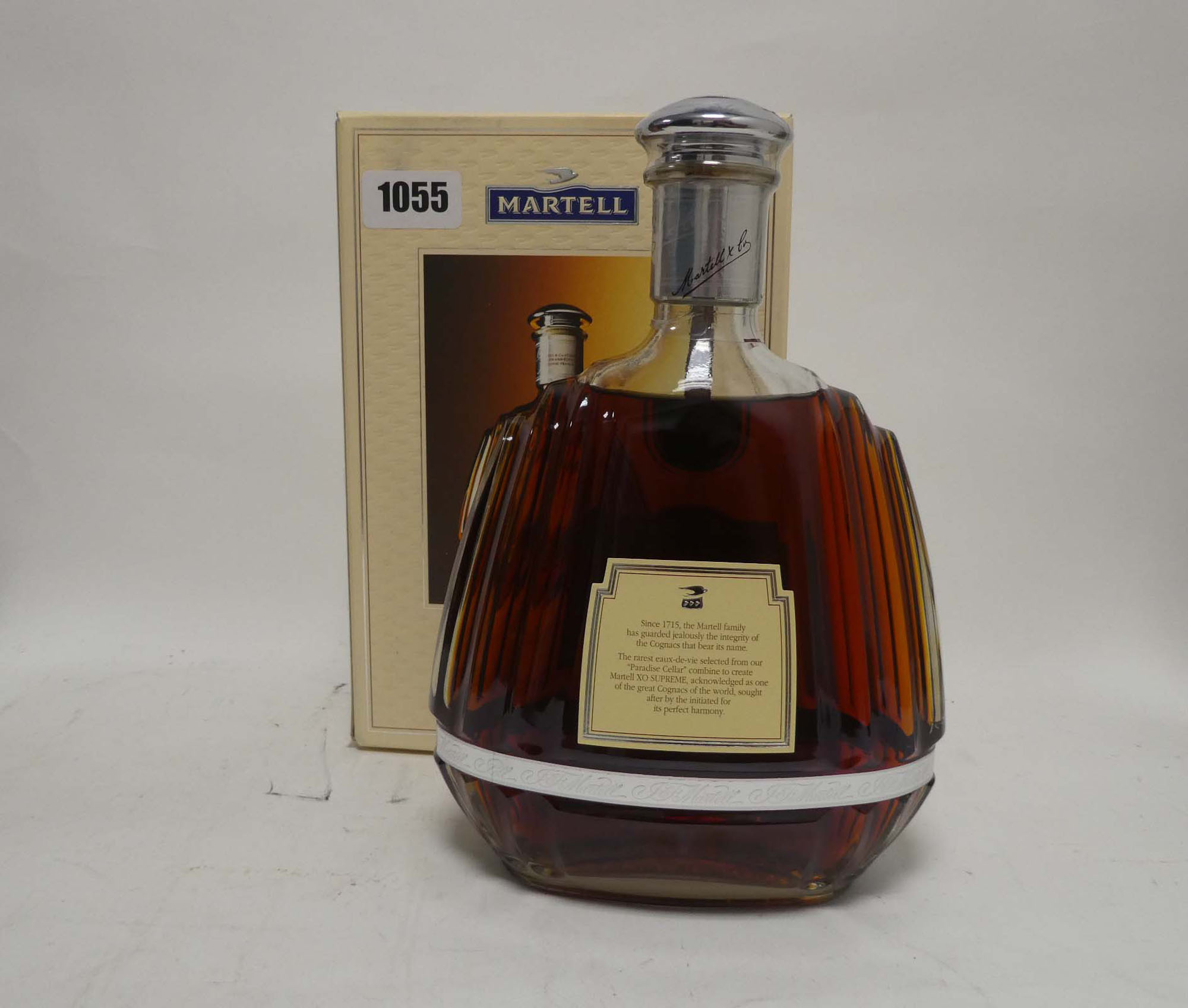 A bottle of J&F Martell XO Supreme Cognac with box old style bottle 1 litre 40% - Image 2 of 2