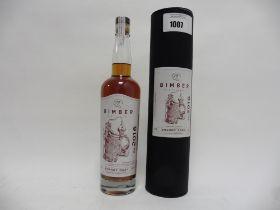 A bottle of Bimber Distillery Sherry Cask Single Malt London Whisky Distillery Exclusive with