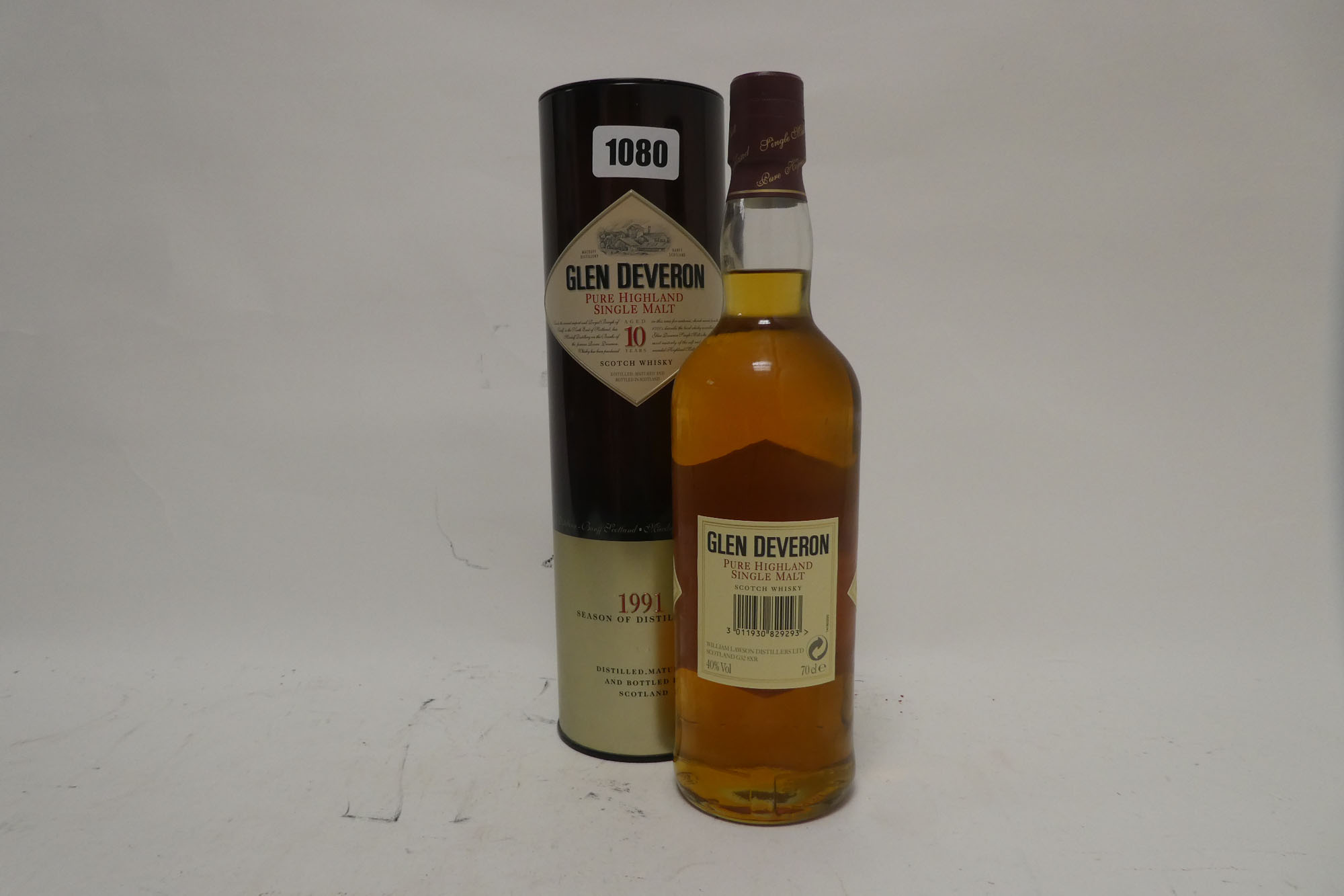 A bottle of Glen Deveron 10 year old Pure Highland Single Malt Scotch Whisky Distilled 1991 with - Image 2 of 2