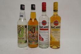 4 bottles, 1x Admiral's Old J Overproof Spiced Rum Batch 31 70cl 75.