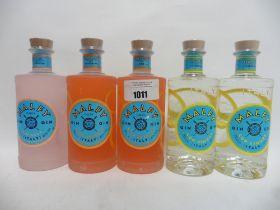 5 bottles of Malfy GQDI Italian Gin, 2x Con Arancia (Blood Orange) 70cl 41%,