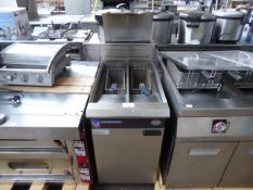 45cm gas Blue Seal Vee-Ray GT46 twin tank fryer with baskets