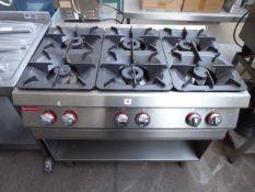 105cm gas Angelo Po 6 burner cooker on stand