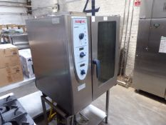 84cm electric Rational CombiMaster combination oven on stand