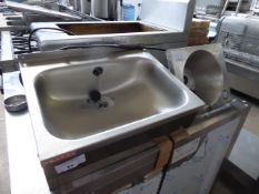 (443) 46cm Franke stainless steel hand basin plus one other