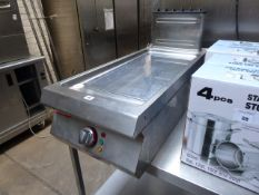 40cm electric Angelo Po chromed flat top griddle