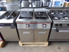 50cm electric Angelo Po twin tank fryer with basket