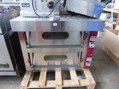 86cm electric Angelo Po Model FPZ24E twin deck pizza oven, Year 2017