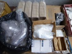 2 Pallets of assorted takeaway and disposable food and beverage containers