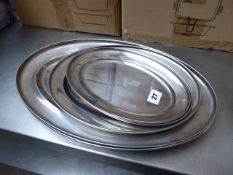 Stainless steel oval platters