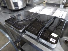 2 small induction hobs