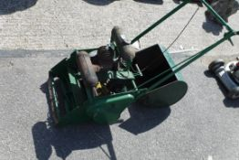 Vintage Atco lawn mower with roller attachment and grass box