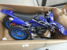 Petrol powered mini KXD flatpack childs motorbike