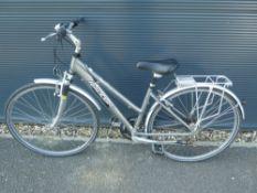Grey Raleigh ladies bike