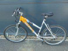 Raleigh orange and silver mountain bike