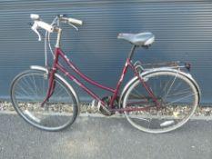 Emmelle red ladies bike