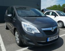 Vauxhall Meriva Exclusiv Turbo 138 in grey, registration plate DU12 WXP, first registered 16.03.