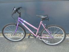 Pink Universal Fusion girls mountain bike