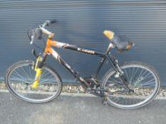 Black and orange Apollo Slammer gents mountain bike